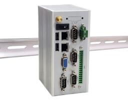 Pasivně chlazené průmyslové Box PC typu DIN-Rail LexCom LeySystem MIRO-2 s deskou 2I385CW a procesorem Intel® Bay Trail-I E3845 / E3825