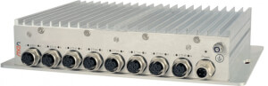 NM10 Unmanaged 8-Port Rugged Ethernet Switch with EN50155