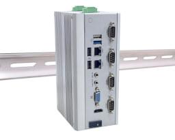 Pasivně chlazené průmyslové Box PC typu DIN-Rail LexCom LexSystem MIRO-3 2 Layers