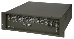 Odolný switch Aqeri 96241 s výškou 3U pro zabudování do 19'' racku