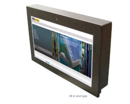 """LexCom 15.6"""" Fanless Panel PC v provedení  All In One"""