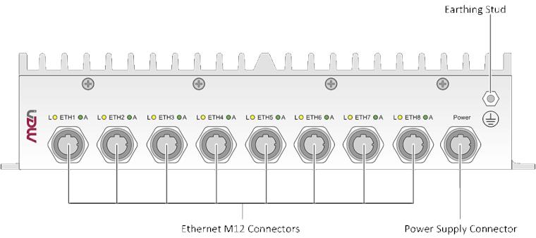 NM10 - Unmanaged 8-Port Rugged Ethernet Switch EN50155