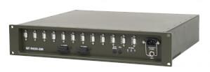Odolný switch Aqeri 9624-5M s výškou 2U pro zabudování do 19'' racku s AC napájením